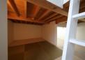 畳を敷いた床下納戸