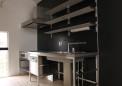 ステンレスフレームキッチン・棚はイケア製