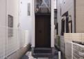 旗竿敷地部分を利用した玄関