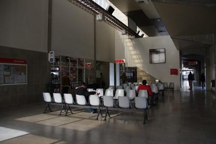 14バスターミナルに到着