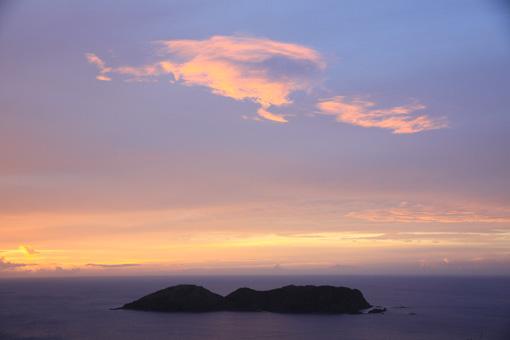 25三日月山から見る夕日_5483