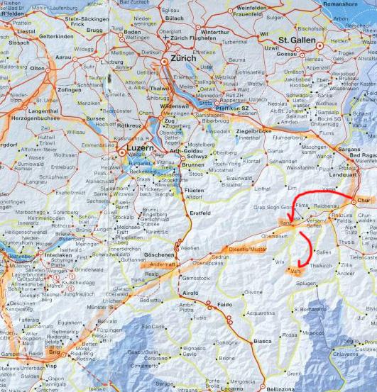 ヴァルスへの地図